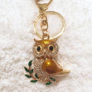 Accessories - ✨NEW✨Bijoux Rhinestone Golden Owl Keychain